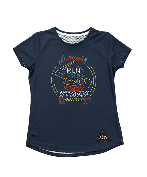 STAMP WOMENS GRAPHIC RUN TEE (Run For Your Right(To Party))